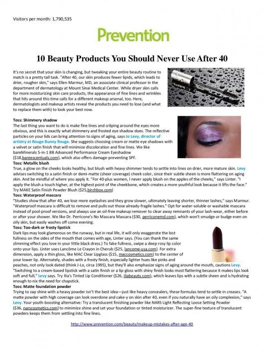 Prevention Magazine Feature